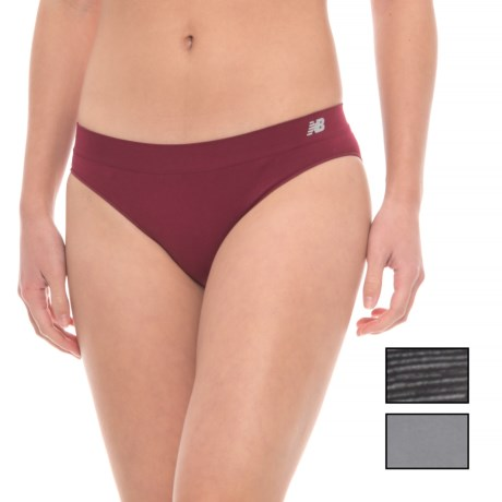 New Balance Space-Dye Seamless Panties - Hipster, 3-Pack (For Women) in Black Ombre/Gunmetal/Admiral Red