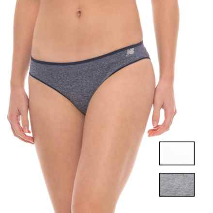 New Balance Space-Dye Seamless Panties - Hipster, 3-Pack (For Women) in Dark Denim Heather/ White/Gunmetal Heather - Closeouts