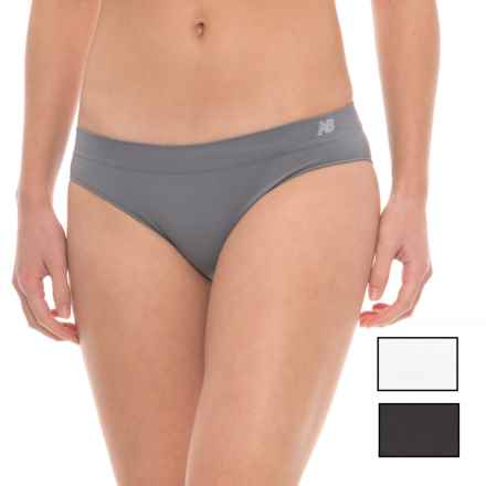 New Balance Space-Dye Seamless Stretch Panties - Hipster, 3-Pack (For Women) in Black/White/Gunmetal - Closeouts
