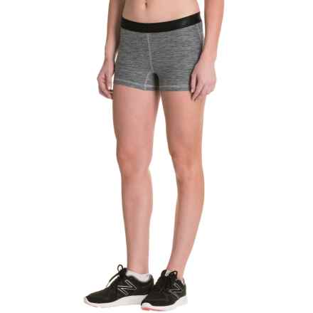 New Balance Space-Dye Shorts (For Women) in Anthracite - Closeouts