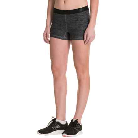 New Balance Space-Dye Shorts (For Women) in Black Grey - Closeouts