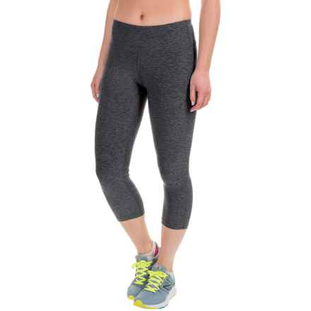 New Balance Space-Dyed Capris (For Women) in Black/Grey - Closeouts