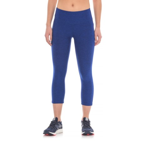 New Balance Space-Dyed Capris (For Women) in Uv Blue