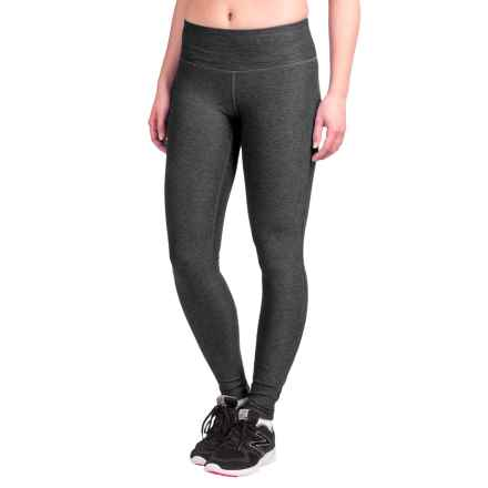 New Balance Space-Dyed Tights (For Women) in Black Grey - Closeouts