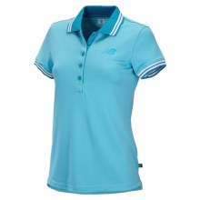 New Balance Speed Polo Shirt - Short Sleeve (For Women) in Psd Poolside W/Blud Infinity - Closeouts