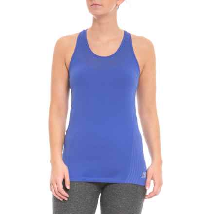New Balance Stretch Racerback Tank Top (For Women) in Blue - Closeouts