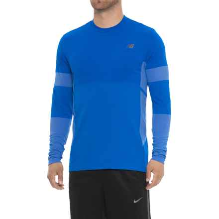 New Balance Stretch Shirt - Long Sleeve (For Men) in Pacific - Closeouts