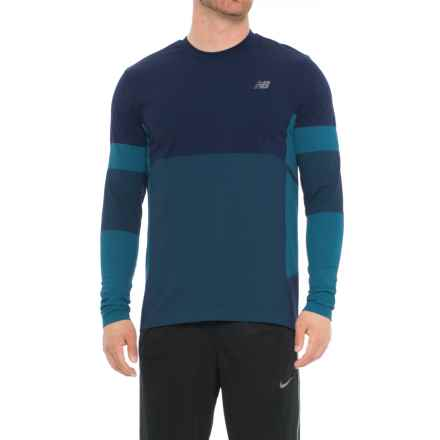 New Balance Stretch Shirt - Long Sleeve (For Men) in Pigment - Closeouts