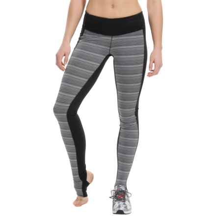 New Balance Studio Tights (For Women) in Black/Black Multi - Closeouts