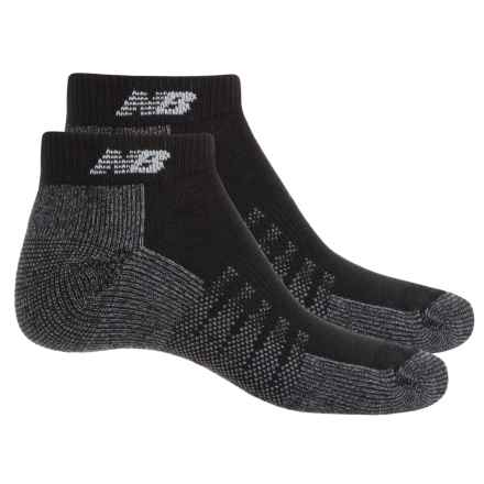 New Balance Tech Elite CoolMax® Socks - 2 Pack, Below the Ankle (For Men) in Black - 2nds