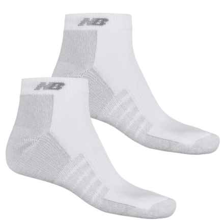 New Balance Tech Elite CoolMax® Socks - 2 Pack, Below the Ankle (For Men) in White - 2nds