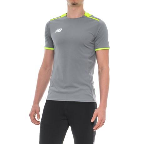 New Balance Tech Training Dry XX Shirt - Short Sleeve (For Men) in Gunmetal/Blue