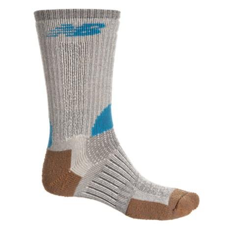 New Balance Technical Elite Antifungal Socks - Crew (For Men) in Grey/Blue