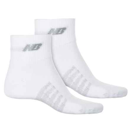 New Balance Technical Elite CoolMax® Socks - 2-Pack, Quarter Crew (For Men and Women) in White - 2nds