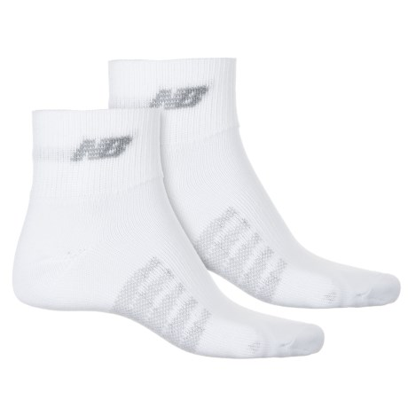 New Balance Technical Elite CoolMax® Socks - 2-Pack, Quarter Crew (For Men and Women) in White