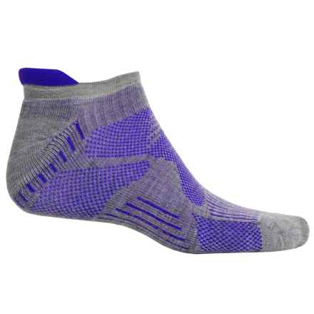 New Balance Technical Elite Low-Cut Socks - Merino Wool Blend, Below the Ankle (For Men) in Grey/Blue - Closeouts