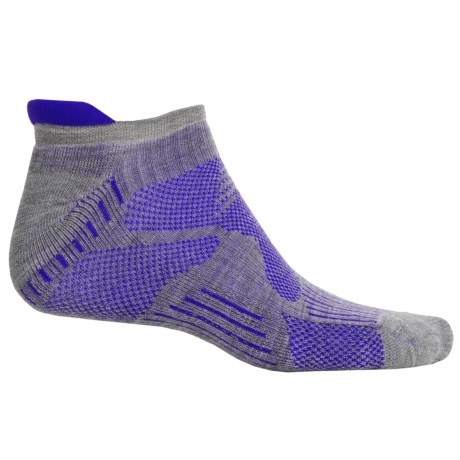 New Balance Technical Elite Low-Cut Socks - Merino Wool Blend, Below the Ankle (For Men) in Grey/Blue