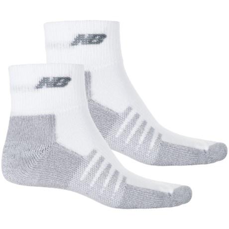 New Balance Technical Elite NBx® CoolMax® Socks - 2-Pack Quarter Crew (For Men and Women) in White