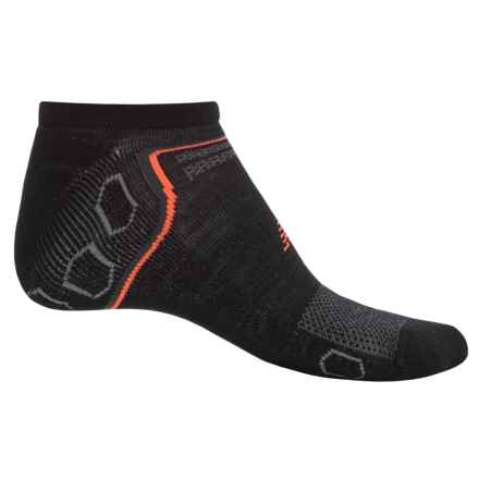New Balance Technical Elite Socks - Below the Ankle (For Men) in Black/Grey - Closeouts