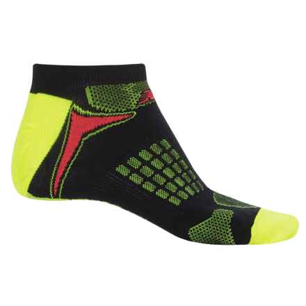 New Balance Technical Elite Socks - Below the Ankle (For Men) in Black/Yellow - Closeouts