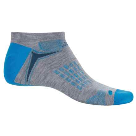 New Balance Technical Elite Socks - Below the Ankle (For Men) in Grey/Blue - Closeouts