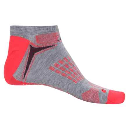 New Balance Technical Elite Socks - Below the Ankle (For Men) in Grey/Orange - Closeouts