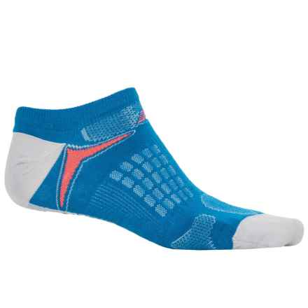 New Balance Technical Elite Socks - Below the Ankle (For Women) in Blue/Grey/Red - Closeouts