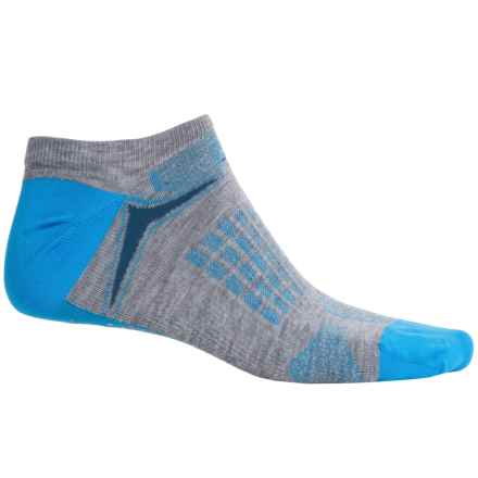 New Balance Technical Elite Socks - Below the Ankle (For Women) in Grey/Light Blue - Closeouts