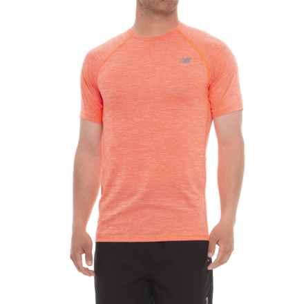 New Balance Tenacity Shirt - Short Sleeve (For Men) in Dynamite - Closeouts