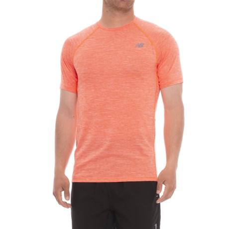 New Balance Tenacity Shirt - Short Sleeve (For Men) in Dynamite