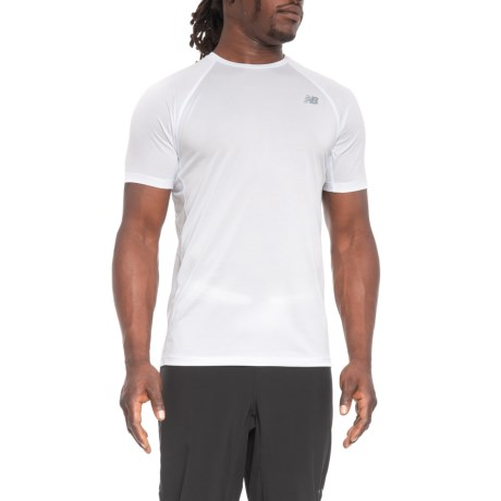 New Balance Tenacity Shirt - Short Sleeve (For Men) in White