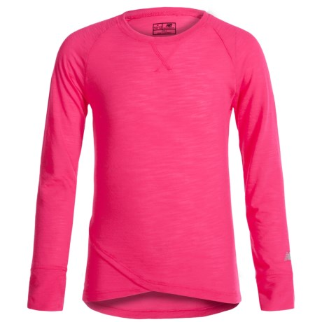 New Balance That's a Wrap T-Shirt - Long Sleeve (For Big Girls) in Light Pink