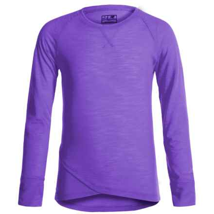 New Balance That's a Wrap T-Shirt - Long Sleeve (For Big Girls) in Light Purple - Closeouts