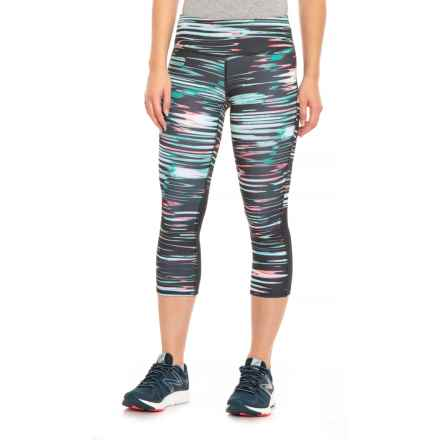 New Balance Total-Performance Printed Capris (For Women) in Sea Foam - Closeouts