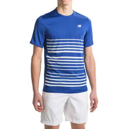 New Balance Tournament Crew Shirt - Short Sleeve (For Men) in Marine Blue - Closeouts