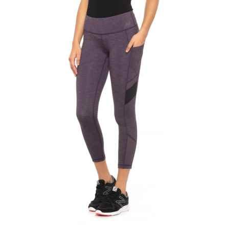 New Balance Transform Pocket Crop Leggings (For Women) in Elderberry Heather - Closeouts