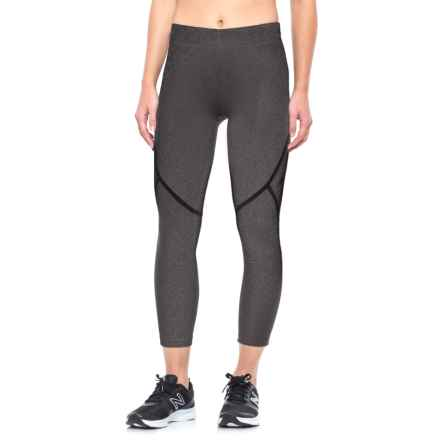 New Balance Trinamic Capris (For Women) in Heather Charcoal - Closeouts