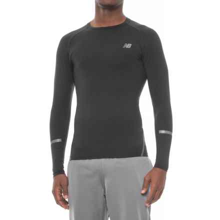 New Balance Trinamic Shirt - Long Sleeve (For Men) in Black - Closeouts