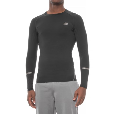 New Balance Trinamic Shirt - Long Sleeve (For Men) in Black