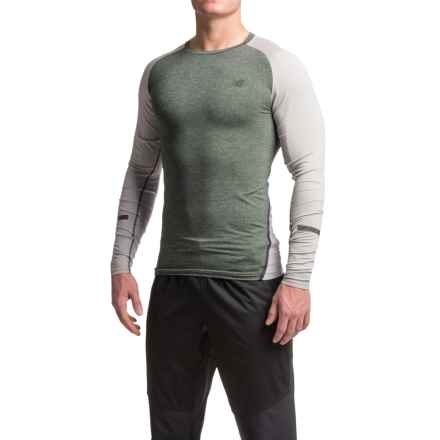 New Balance Trinamic Shirt - Long Sleeve (For Men) in Heather Charcoal/Athletic Grey Heather - Closeouts