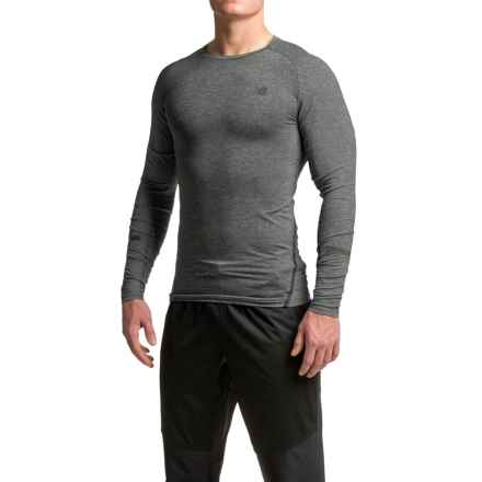 New Balance Trinamic Shirt - Long Sleeve (For Men) in Heather Charcoal - Closeouts