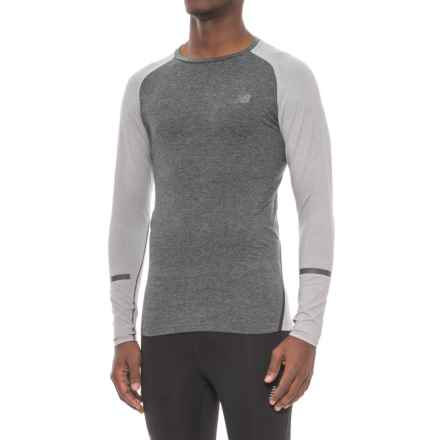 New Balance Trinamic Shirt - Long Sleeve (For Men) in Heather Grey - Closeouts