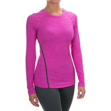 New Balance Trinamic Shirt - Long Sleeve (For Women) in Azalea Heather - Closeouts
