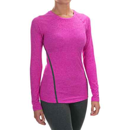 New Balance Trinamic Shirt - Long Sleeve (For Women) in Azalea Heather - Closeouts