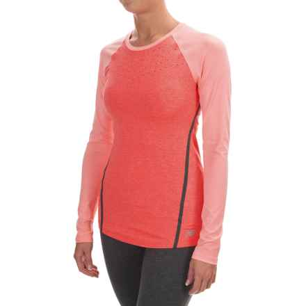 New Balance Trinamic Shirt - Long Sleeve (For Women) in Dragonfly Heather - Closeouts