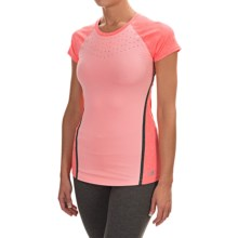 New Balance Trinamic Shirt - Short Sleeve (For Women) in Dragonfly Heather - Closeouts