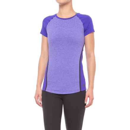 New Balance Trinamic Shirt - Short Sleeve (For Women) in Spectral Heather - Closeouts
