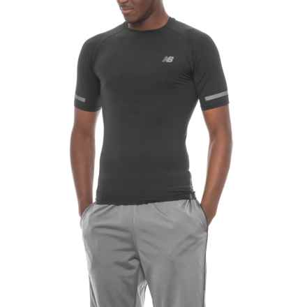 New Balance Trinamic T-Shirt - Crew Neck, Short Sleeve (For Men) in Black - Closeouts