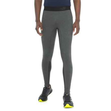 New Balance Trinamic Tights (For Men) in Heather Charcoal - Closeouts