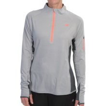 New Balance Ultra Shirt - Zip Neck (For Women) in Silver Mink Heather - Closeouts